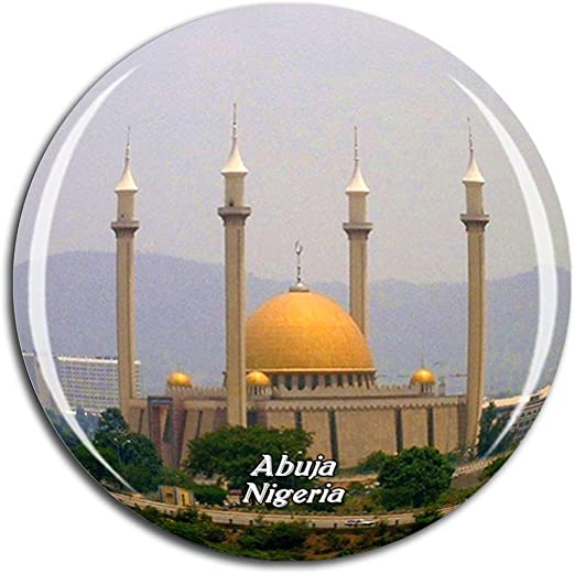 Amazon Com Weekino Abuja National Mosque Nigeria Fridge Magnet 3d Crystal Glass Tourist City Travel Souvenir Collection Gift Strong Refrigerator Sticker Kitchen Dining