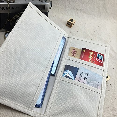 """Insert Pouch for Standard Size Travelers Notebook, Refillable, Oxford Fabric Bound Journal Refill Pocket from Chris.W - Large(8.25"""" x 4.3"""")"""