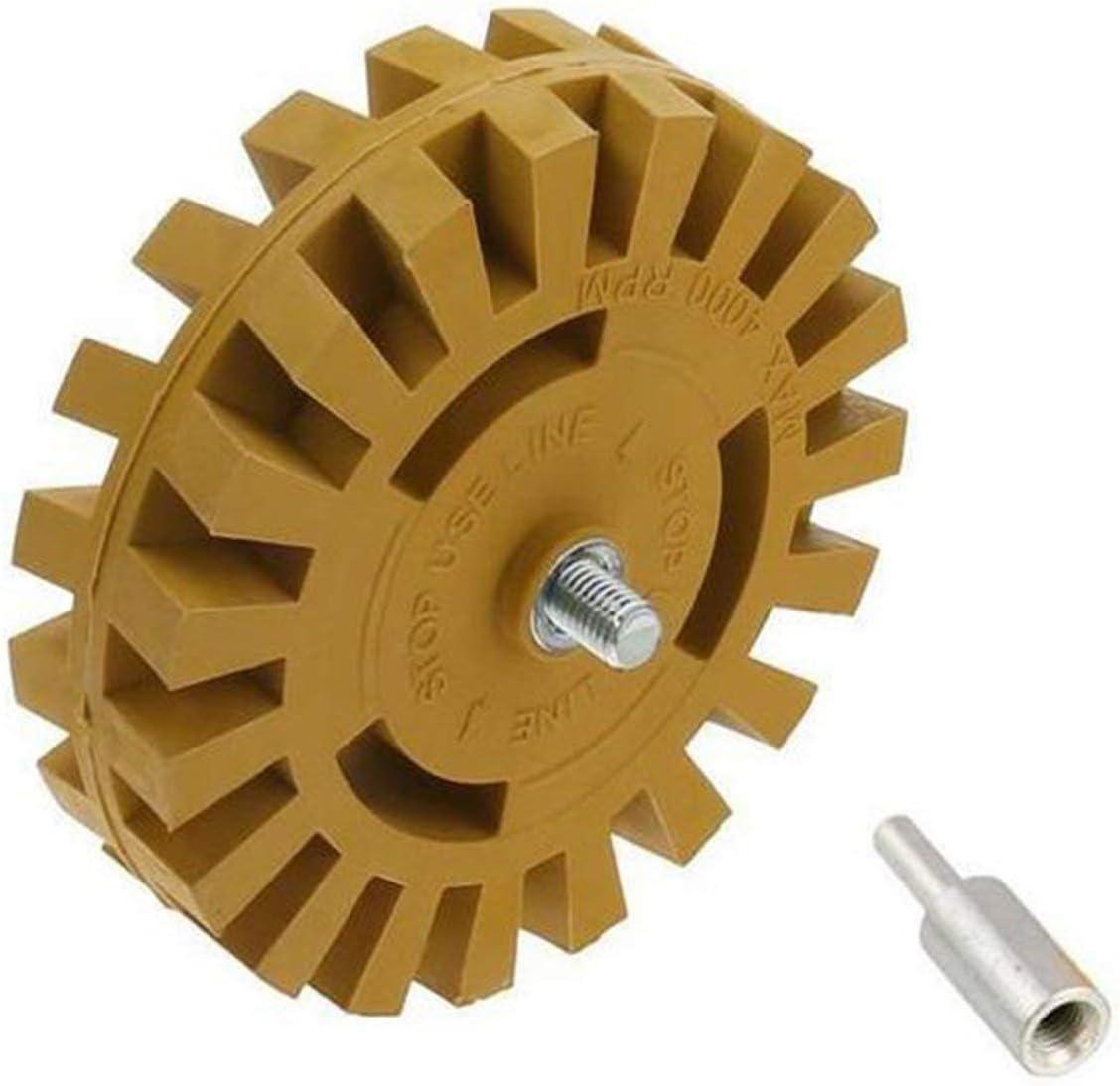 Dailyinshop/® 4 pouces disque de d/égommage pneumatique /à la roue en caoutchouc d/égommage de la meule en caoutchouc de roue de voiture de polissage de roue