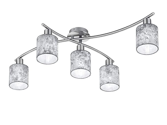 Lámpara de techo abatible Garda plateados con pantallas de ...