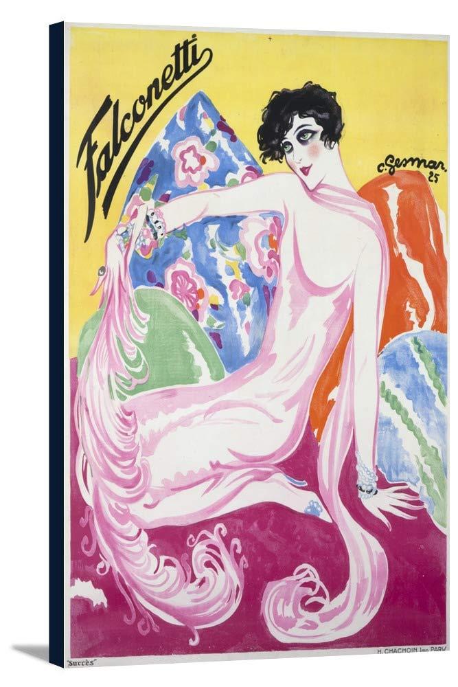 Falconettiヴィンテージポスター(アーティスト: Gesmar )フランスC。1925 24 x 36 Gallery Canvas LANT-3P-SC-58058-24x36 24 x 36 Gallery Canvas  B018SIQAC2