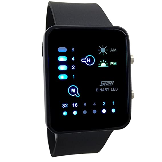 Amazon.com: Skmei Technological Sense Binary LED Waterproof ...