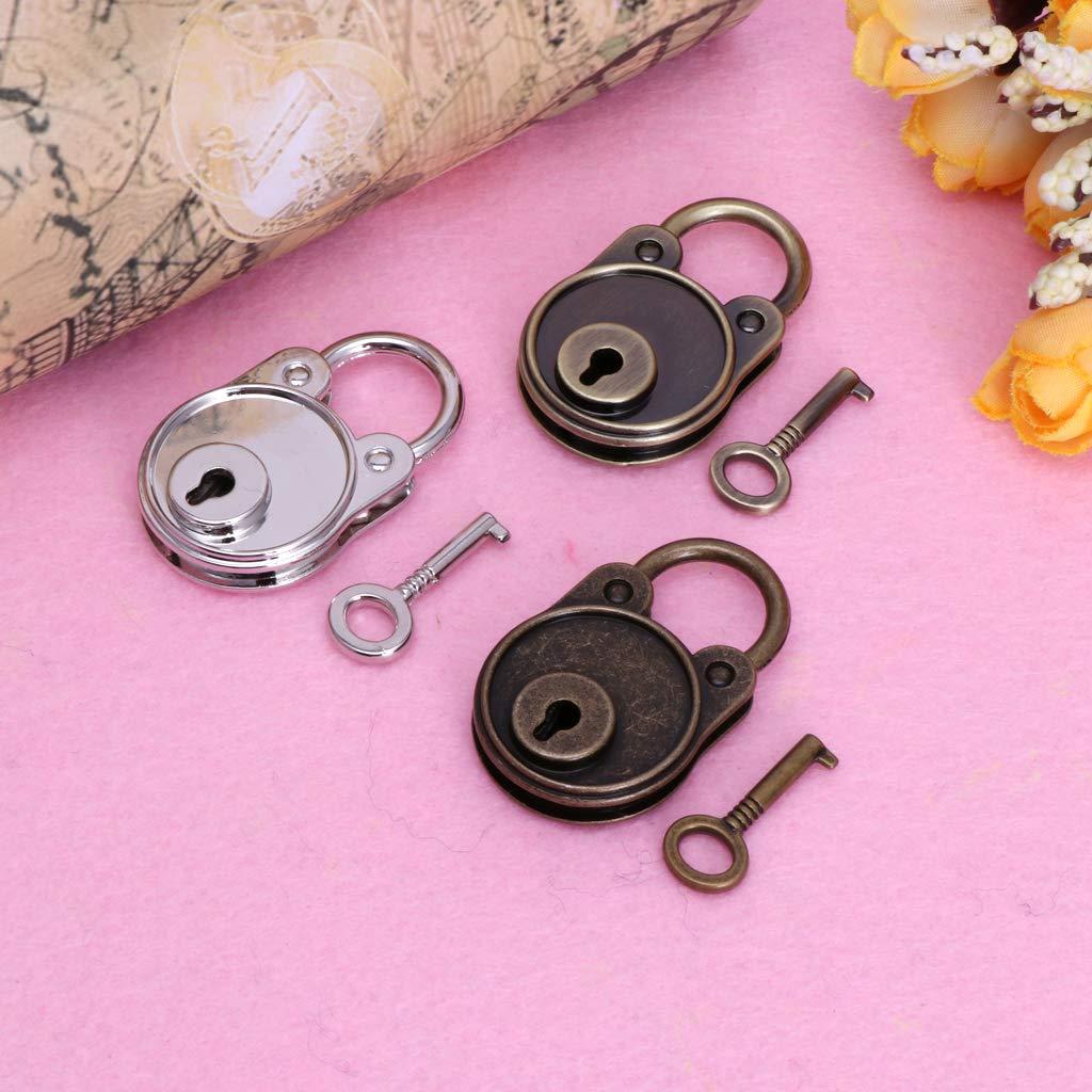 /Candado Cerradura con llave MENTIN New Bear Vintage Old Style antiguo Mini Archaize/