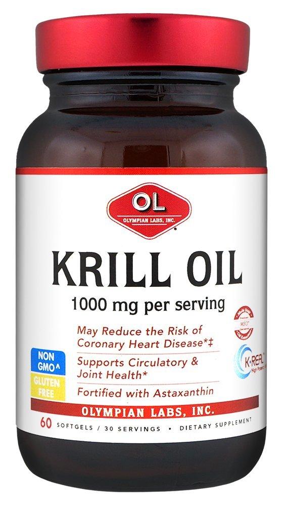 Olympian Labs Krill Oil, 60 Softgels/30 Servings