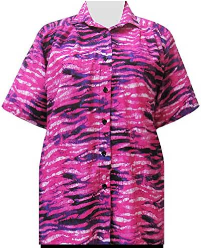 A Personal Touch Pink Watercolor Designs Women's Plus Size Blouse