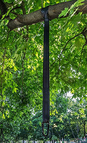 TREE SWING HANGING KIT - Single 6 ft Strap with Carabiner Hook + Swivel - Perfect for Hammock Chair, Tire & Disc Swings, Better than Rope, for Kids & Adults, Holds up to 1000lbs, Instructions Included