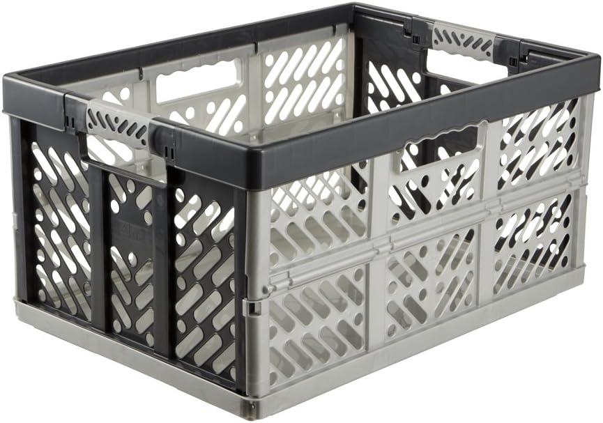keeeper Robusta Caja Plegable con Asas Suaves, 54 x 37 x 28 cm, 45 l, Ben, Gris Claro, PP/TPE