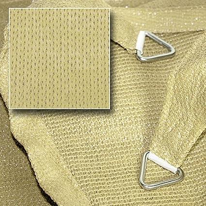 hanSe/® Marken Sonnensegel Sonnenschutz Segel Rechteck 4x6 m Sand