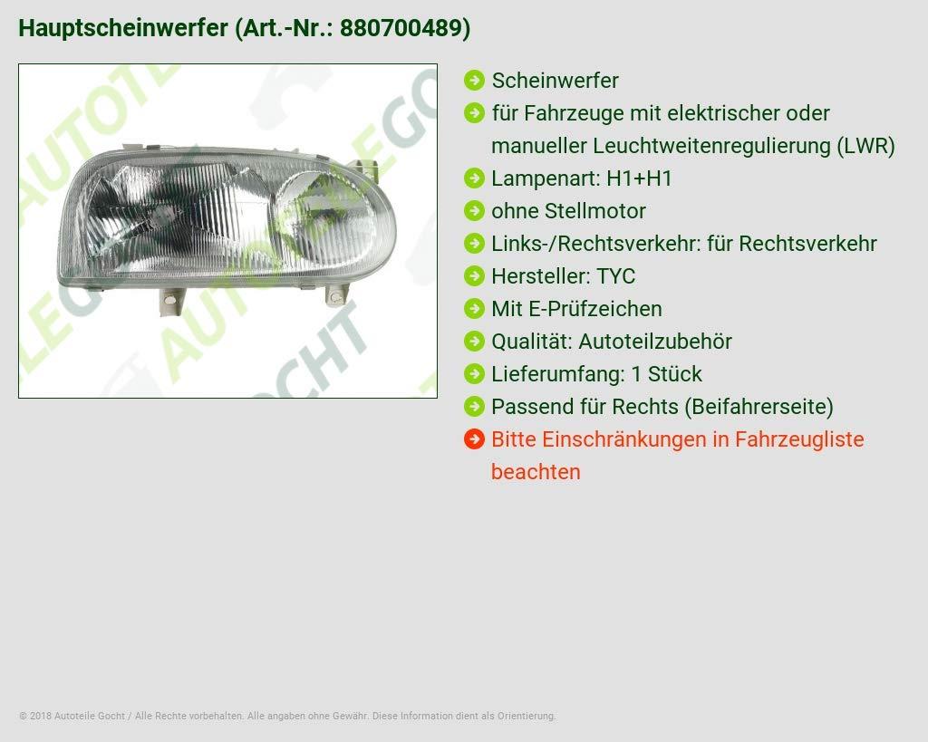 Scheinwerfer H1 H1 Rechts B-Ware