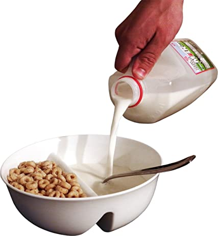Amazon 2 pack anti soggy cereal bowl for keeping your anti soggy cereal bowl for keeping your cereal crunchy just crunch never ccuart Gallery