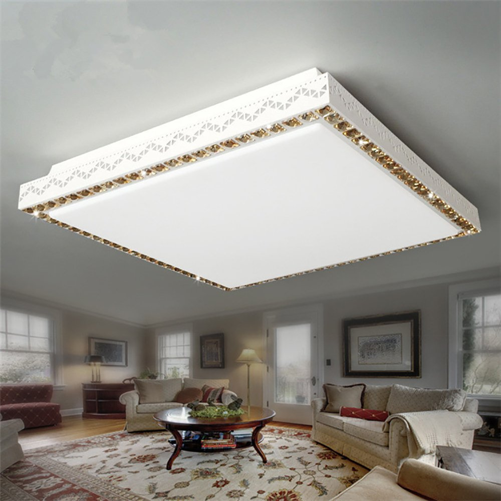 Amazon.com: OOFAY Led Ceiling Light Square Living Room Crystal Light Bedroom Balcony Restaurant Promise Dimming + Remote Control: Home & Kitchen