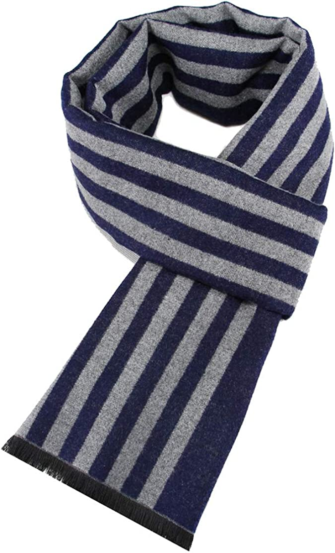 ACVIP Mens Streamed Cotton Blend Rectangle Cold Weather Scarf Scarves  Accessories