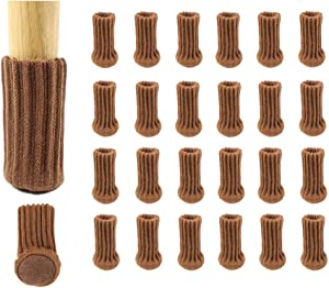 """WINCANG 24PCS Chair Leg Socks Furniture Pads High Elastic Knitted Floor Protectors Furniture Sock Non-Slip Chair Leg Feet Socks Covers Furniture Caps Set Fit Furniture Feet Girth from 2.7"""" to 6.7"""""""