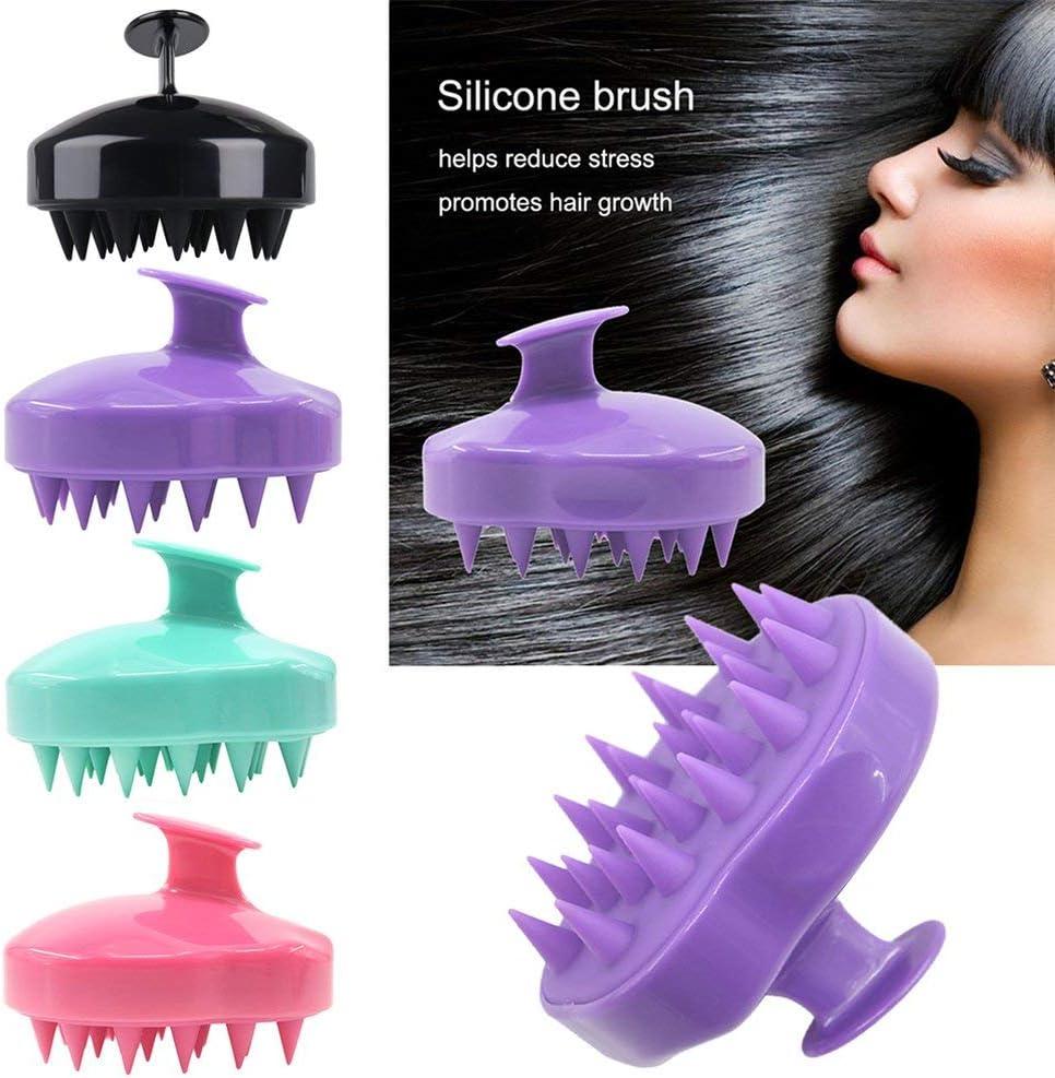 Deniseonuk Shampoo Brush Hair Scalp Massager Soft Silicone Scalp Care Brush Perfect for Men Kids and Pets Women