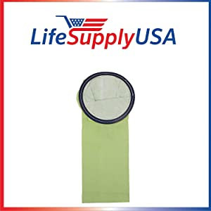 LifeSupplyUSA 50 Packs of 6 (300 count) Vacuum Bags Compatible with 6 Quart QTR Microline BackPack Vacuums including Bissell BigGreen commerical and others