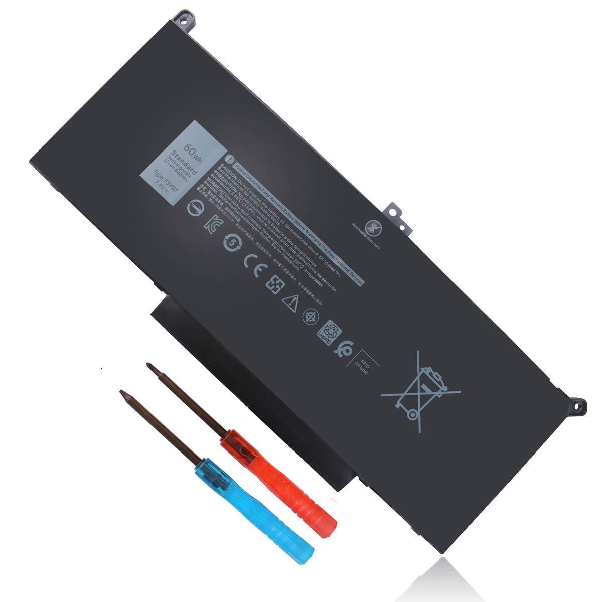 Bateria 7.6V 60Wh F3YGT Dell Latitude 7480 7380 7280 7390 74