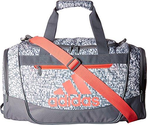 adidas Defender III Duffel Bag, Dapple White/Grey/Flash Red,