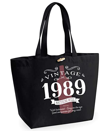 30th Birthday 1989 Keepsake Vintage Wine Funny Gift Gifts For Women