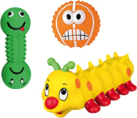 Trixie 3 Mini Juguetes Juego Pelota de Juguete kauspielzeug para ...