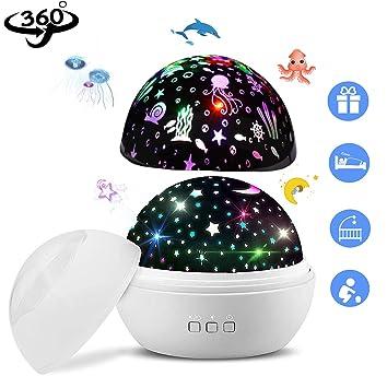 Amazon.com: Proyector de luz nocturna, AUELEK Star Moon y ...