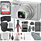 Canon PowerShot SX730 HS Digital Camera (Silver) Deluxe Bundle w/32 GB+ Xpix TableTop Tripod,+ Traveling Charger+ Xpix Cleaning Kit