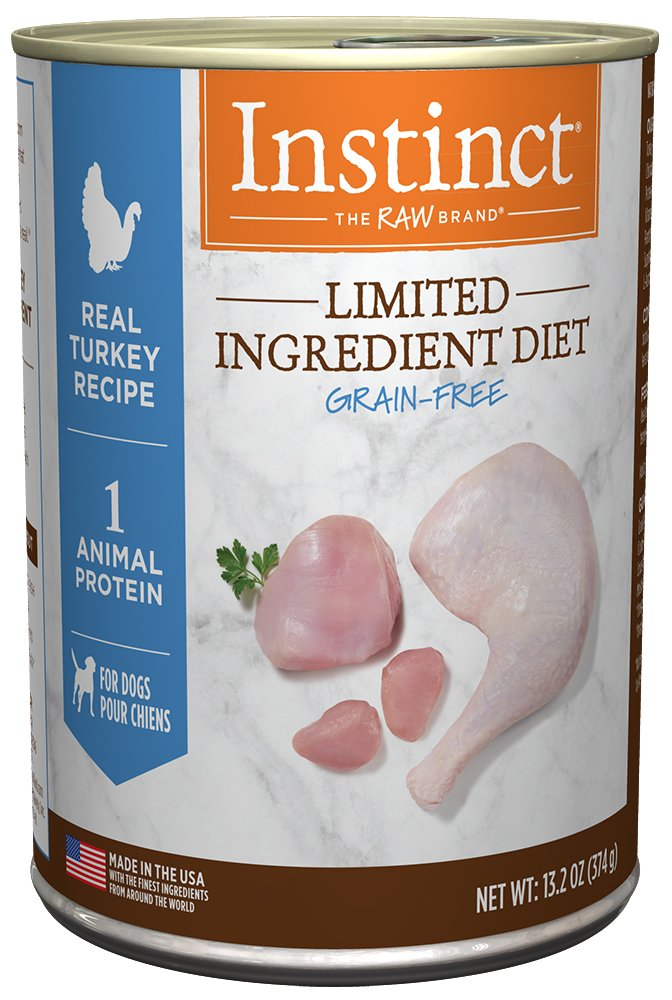 13.2 oz. Cans (Pack of 6) Instinct Limited Ingredient Diet Grain Free Real Turkey Recipe Natural Wet Canned Dog Food by Nature's Variety, 13.2 Oz. Cans (Case of 6)