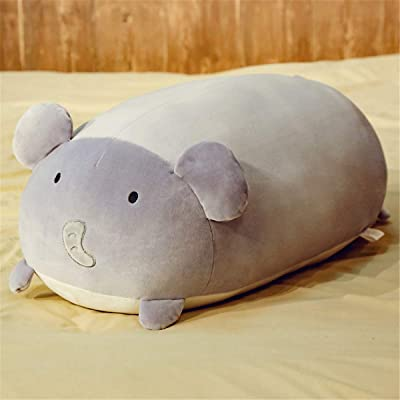 lzpoyaya Mouse Plush Doll, Sofa Soft Pillow Back Cushion, Cute Mouse Animal Stuffed Toys, Regalo de cumpleaños para niños 50cm (Gris) 1PCS: Juguetes y juegos