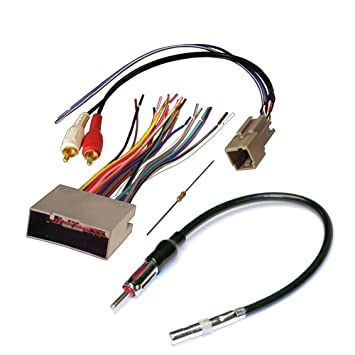 61sqgwy3QnL._SY355_ amazon com audiophile car stereo cd player wiring harness wire aftermarket wiring harness for cars at gsmx.co
