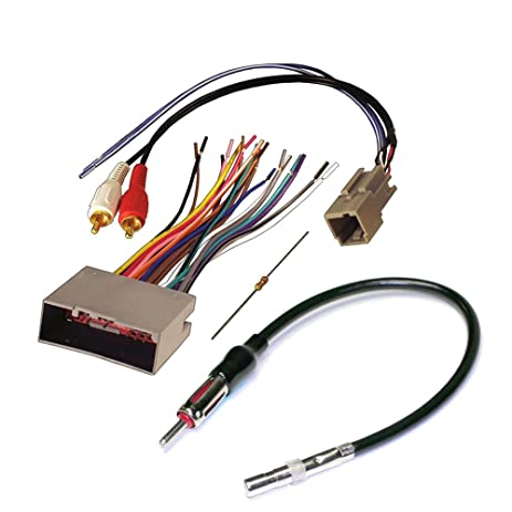 61sqgwy3QnL._SY463_ amazon com audiophile car stereo cd player wiring harness wire car stereo wire harness at gsmx.co