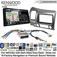 Volunteer Audio Kenwood Excelon DNX994S Double Din Radio Install Kit with GPS Navigation Apple CarPlay Android Auto Fits 2006-2011 Honda Civic (Dark Atlas Grey)