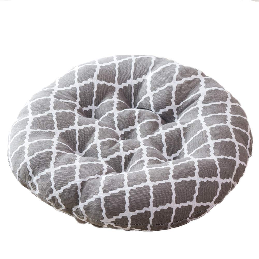 Be&xn Round Bar Stool Tatami Soft Sponge Chair Cushion Thicken Cushion Pillow for Dining Living Room Kitchen Indoor-Gray 45x45cm(18x18inch)