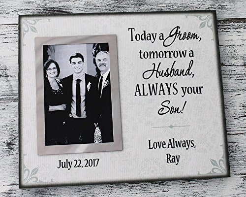 Personalized wedding gift canvas picture frame today a groom tomorrow a husband always your son forever your son parent wedding picture frame