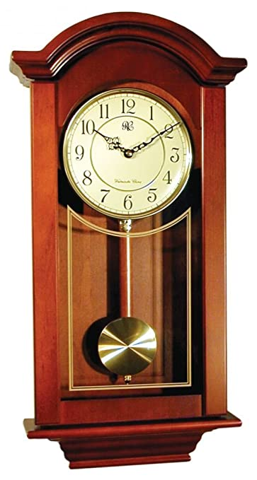 Buy River City Clocks Chiming Regulator Wall Clock With Swinging Pendulum And Cherry Finish 24 Inches Tall Model 6023c Online At Low Prices In India Amazon In