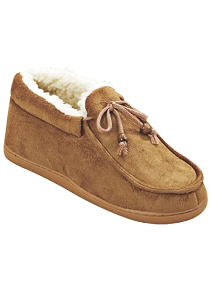 Carol Wright Gifts Mens Memory Foam Moccasins, Tan, Size Medium