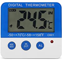 Electronic Alarm Thermometer, ABS Large Outdoor Mini Alarm Thermometer, Mini LCD for Livestock Farm