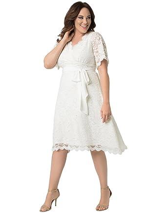 Kiyonna Women\'s Plus Size Graced with Love Wedding Dress at Amazon ...