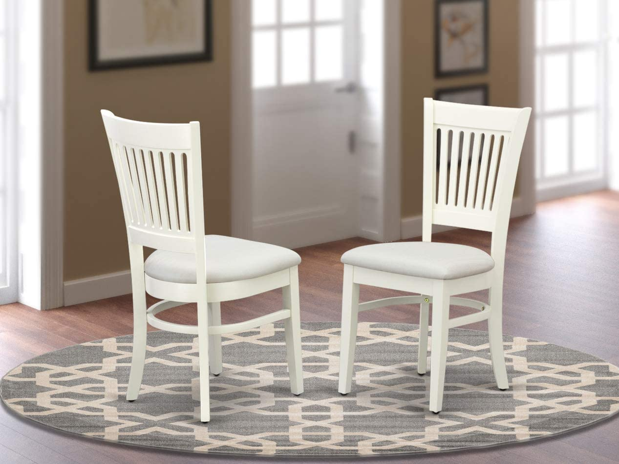 East West Furniture Vancouver Dining Upholstered Chair, Standard Height, VAC-LWH-C