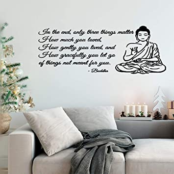 Amazoncom Puaer Vinyl Peel And Stick Mural Removable Decals Buddha