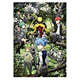 AMOLEY Assassination Classroom Poster,Cartoon Anime Silk Cloth Scroll Painting Characters Poster for Home Decor Fans Gift(Style4)