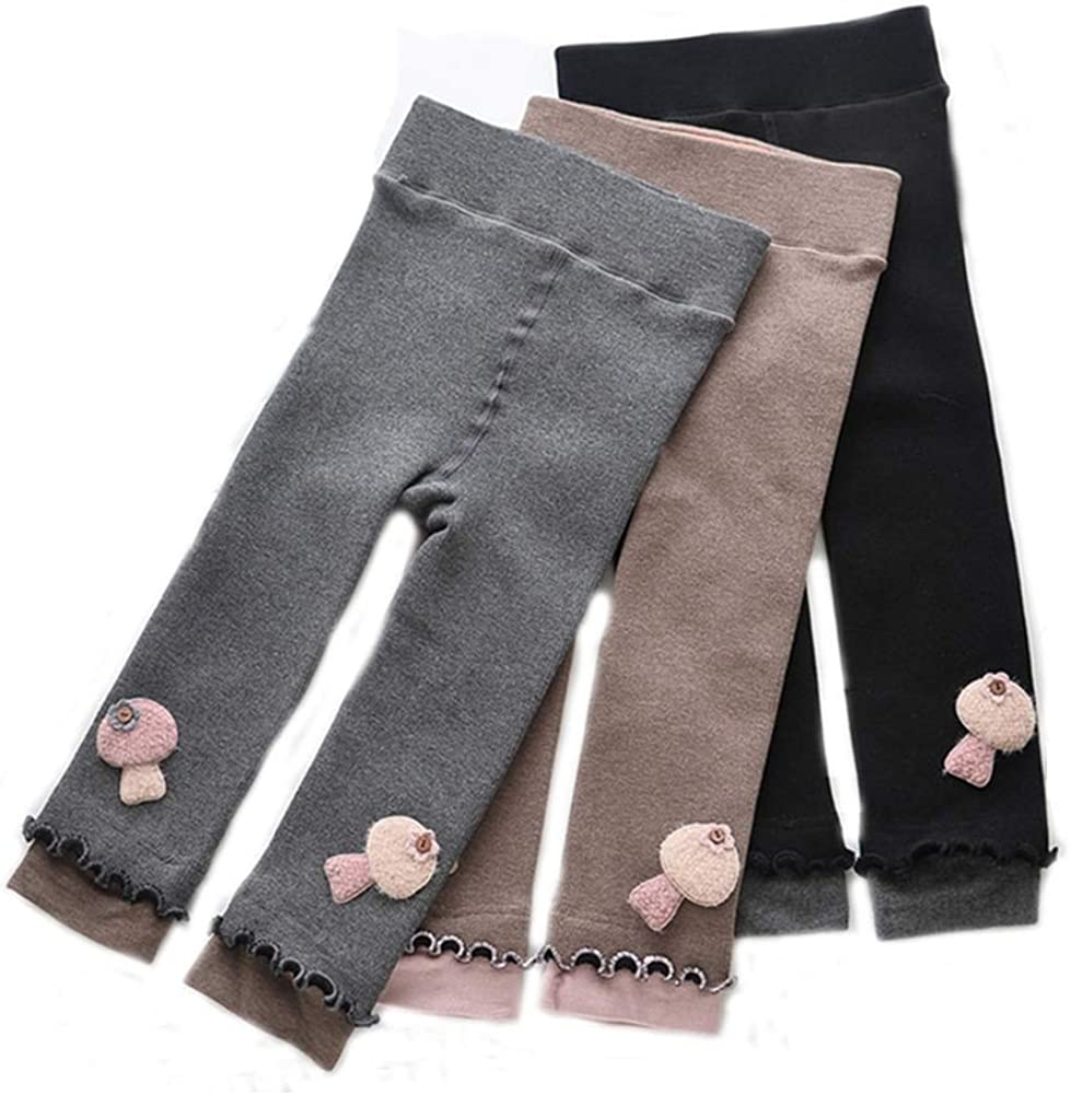Fashion Kids Girls Winter Warm Leggings Thick Fleece Lined Long Trousers Pants