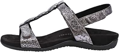 Vionic Women's Rest Farra Backstrap Sandal - Ladies Adjustable Sandals with Concealed Orthotic Support