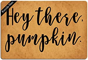 Ruiyida Hey There Pumpkin Doormat Custom Home Living Decor Housewares Rugs and Mats State Indoor Gift Ideas 23.6 by 15.7 Inch Machine Washable Fabric Top (One Pack)