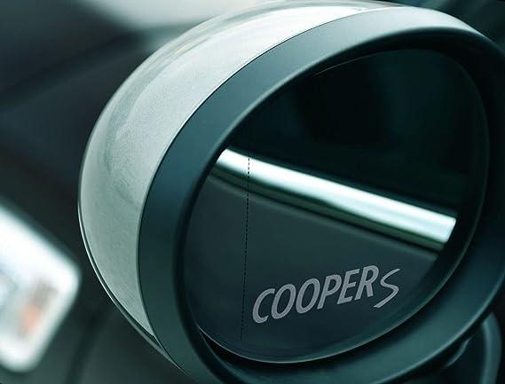 2 X Mini Coopers S Spiegelaufkleber Aus Milchglasfolie Aufkleber Aus Frost Folie Uv Waschanlagenfest Milchglas Frost Aufkleber Sticker Für Spiegel Aussenspiegel Außenspiegel Von Myrockshirt Auto