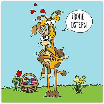 Postkarte Frohe Ostern Karte Osterkarte Osterhase Ostereier Humorvolle Lustige Ostergrusse Osterkarten Grusskarte Ostern Haschen Hase Giraffe Karte Frohe Ostern Osterhase Karte Giraffe Amazon De Burobedarf Schreibwaren