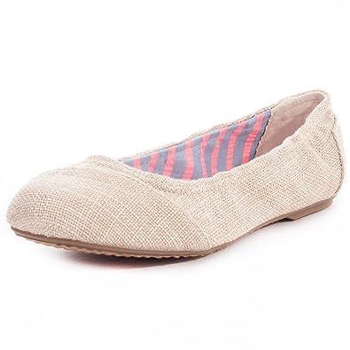 b6ce3f4bd Amazon.com: Toms Ballet Flats Natural Metallic Burlap 10007734 Youth ...
