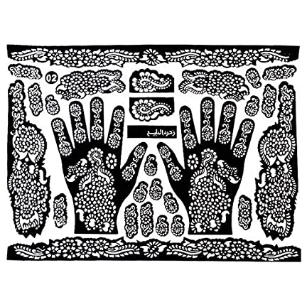 Tattoo Templates Hands Feet Henna Stencils For Airbrushing Mehndi Body Painting
