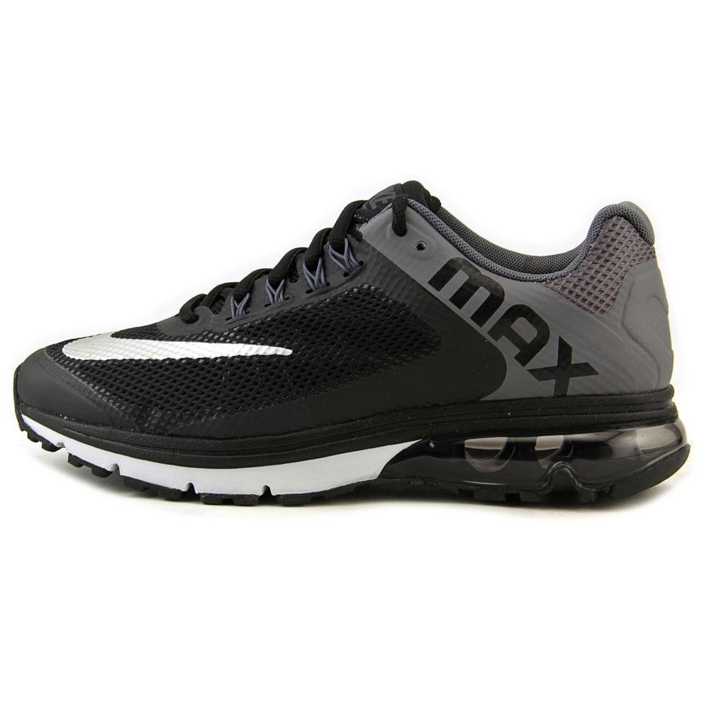 official photos 9354a 935e4 Amazon.com | Nike Air Max Excellerate+ 2, Men's Running Shoe.  BLACK/METALLIC SILVER/DARK GREY/PURE PLATINUM | Basketball