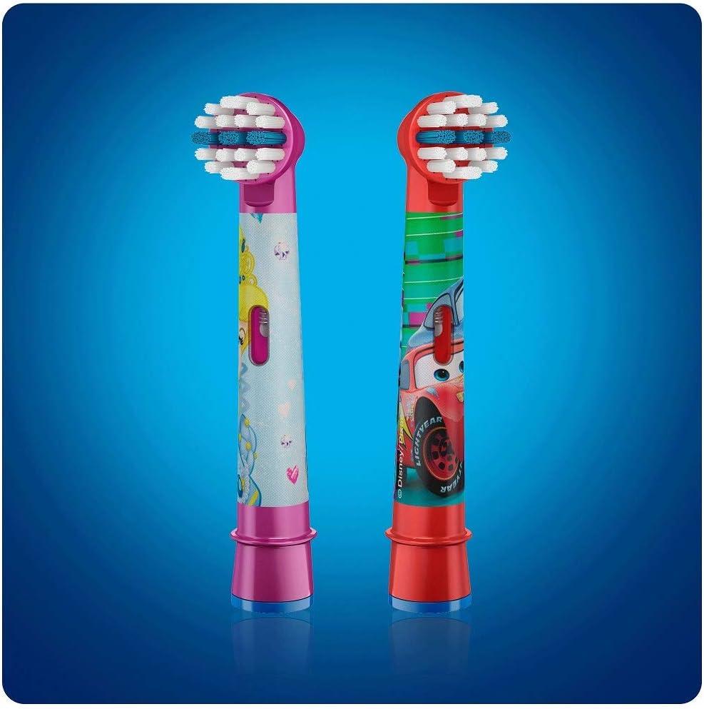 ブラウン オーラルB 電動歯ブラシ 子供用 すみずみクリーンキッズ やわらかめ 替ブラシ(4本) レッド ディズニー ピクサー カーズ