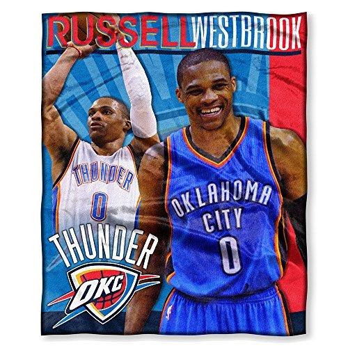 Northwest Oklahoma City Thunder NBA Russell Westbrook Silk Touch 130cm x 150cm Throw Blanket B01BN078U0