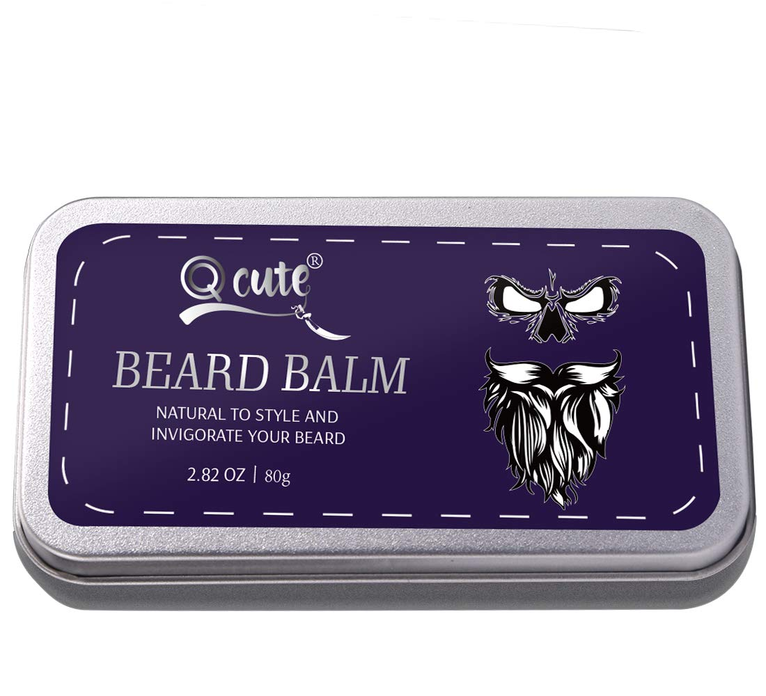 QQcute Unscented Beard Balm-Butter For Men Best Beard Balms